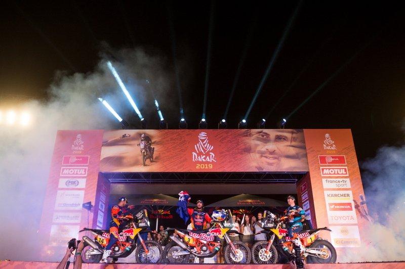 Подіум: #14 Red Bull KTM Factory Racing KTM: Сем Сандерленд, #3 Red Bull KTM Factory Racing KTM: Тобі Прайс, #1 Red Bull KTM Factory Racing KTM: Маттіас Валькнер