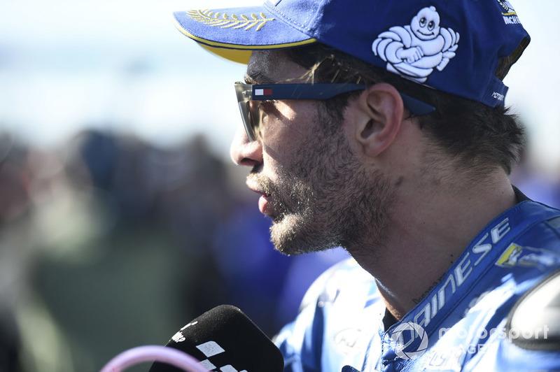 Il secondo classificato Andrea Iannone, Team Suzuki MotoGP