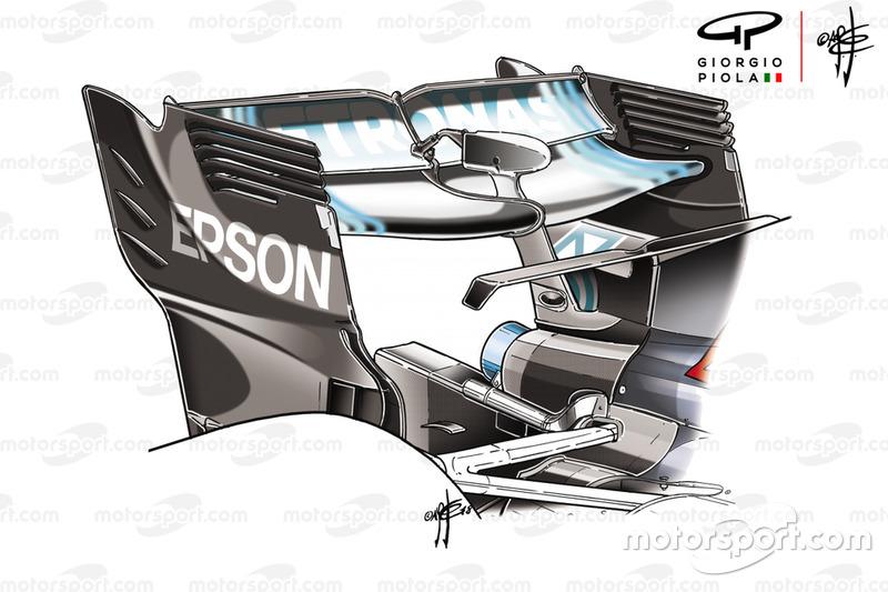 Mercedes F1 AMG W09 rear wing Azerbaijan GP