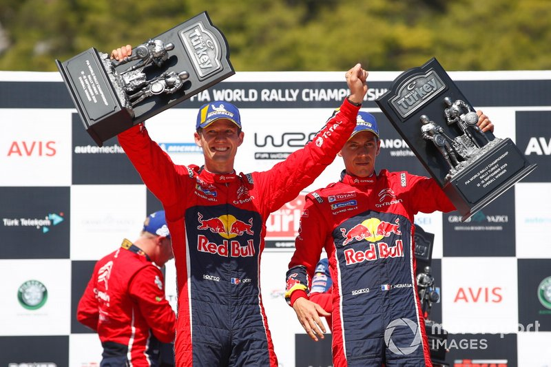 Podium: Winners Sébastien Ogier, Julien Ingrassia, Citroën World Rally Team Citroen C3 WRC
