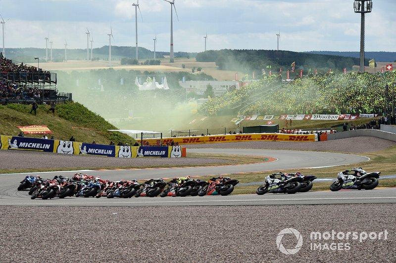 Marc Marquez, Repsol Honda Team, race start, flares