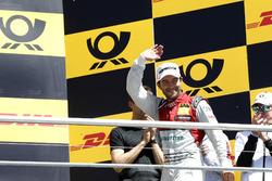 Podium: secon place Mike Rockenfeller, Audi Sport Team Phoenix