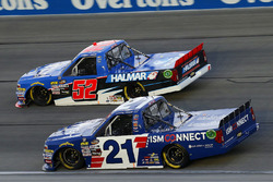 Johnny Sauter, GMS Racing, Chevrolet Silverado ISM Connect and Stewart Friesen, Halmar Friesen Racing, Chevrolet Silverado We Build America