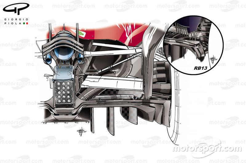 Nouveau diffuseur de la Ferrari SF70H, Abu Dhabi