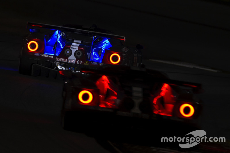 9. #67 Chip Ganassi Racing Ford GT, GTLM: Ryan Briscoe, Richard Westbrook, Scott Dixon, #66 Chip Ganassi Racing Ford GT, GTLM: Dirk Müller, Joey Hand, Sébastien Bourdais