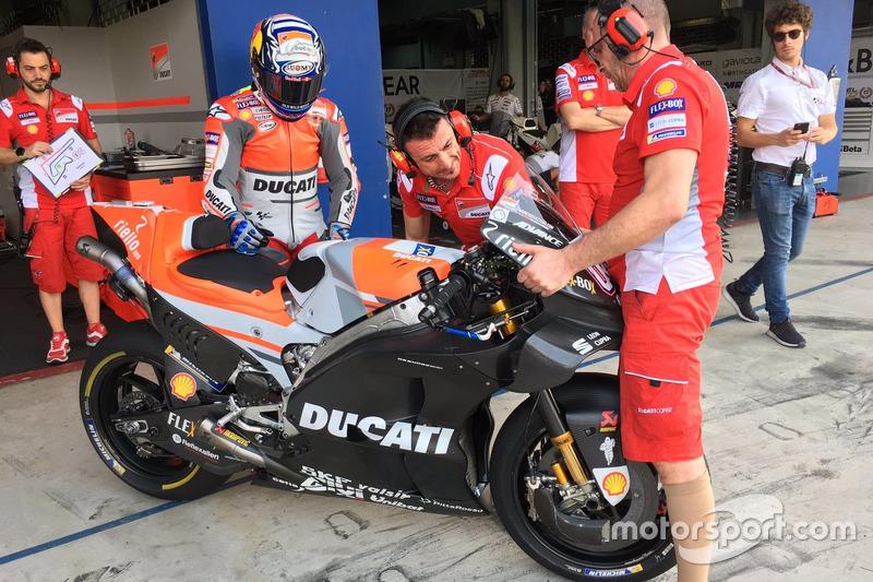 Andrea Dovizioso, Ducati Team con la nuova carena