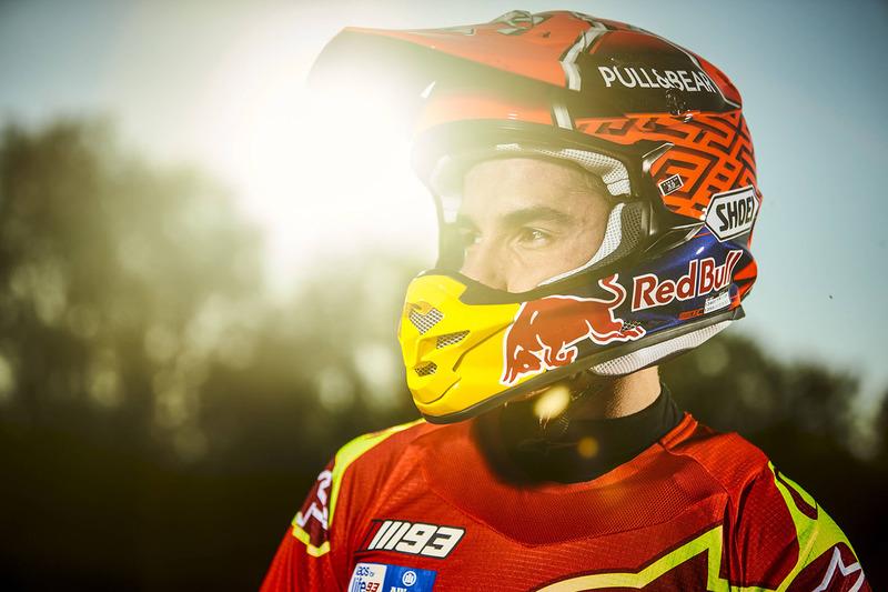 Marc Marquez berlatih motocross di Cervera, Spanyol