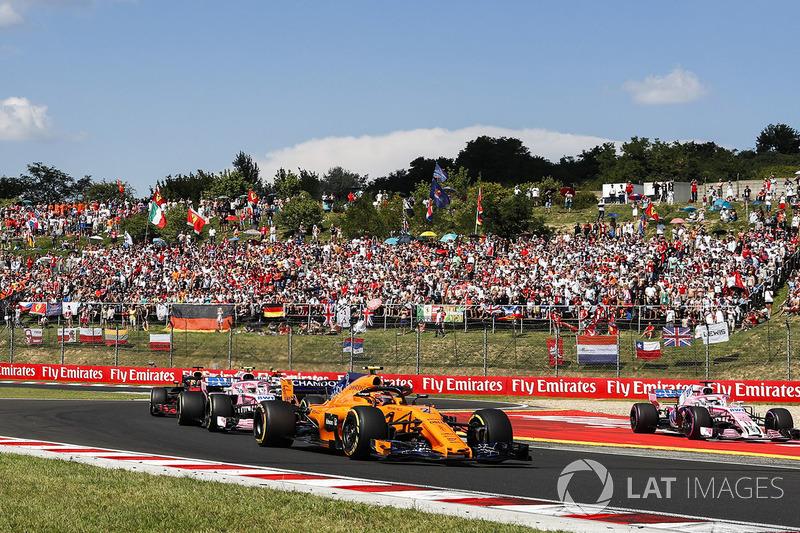 Perez went off track while battling Ricciardo