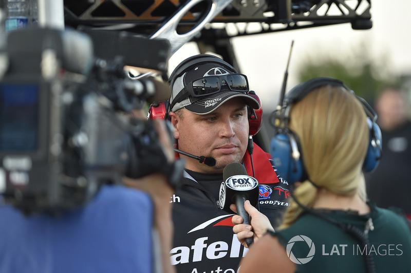 Ryan Fugle, crew chief for Noah Gragson, Kyle Busch Motorsports, Toyota Tundra Safelite AutoGlass