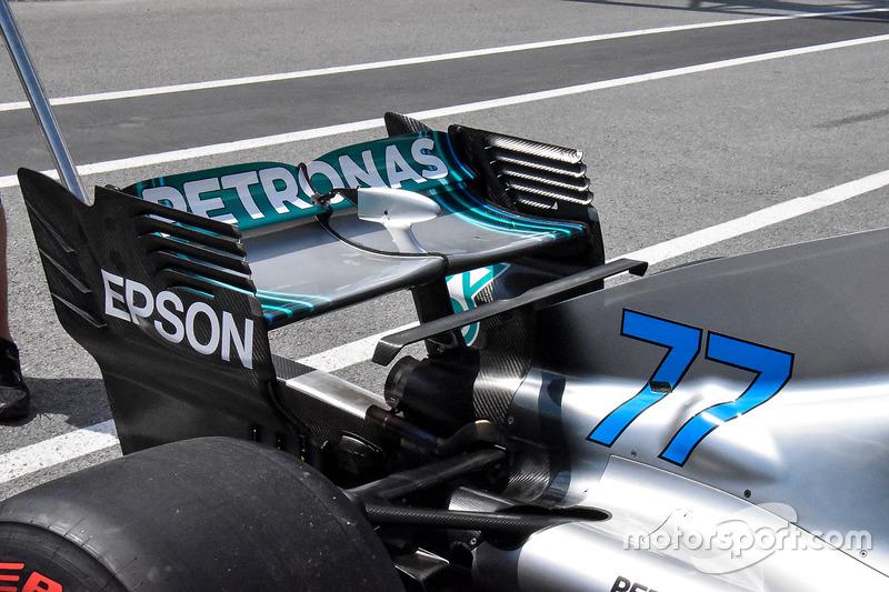 Mercedes AMG F1 W09 detalle del ala trasera