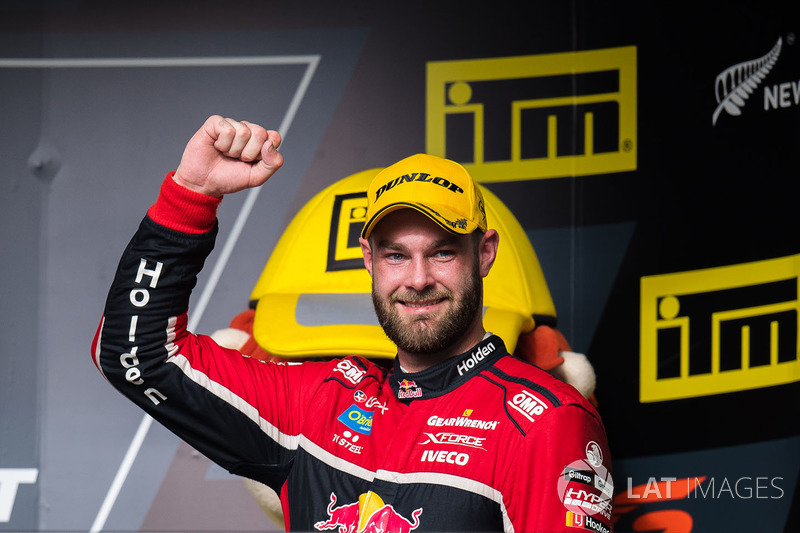 Podium race winner shane van gisbergen triple eight race for Triple e motors long beach ca