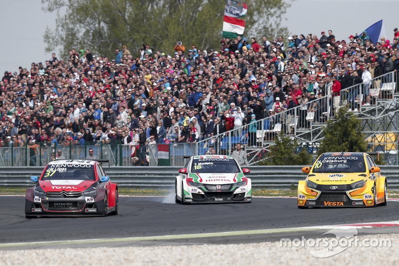 Нікі Катсбург, LADA Sport Rosneft, Lada Vesta; Хосе-Марія Лопес, Citroën World Touring Car Team, Cit