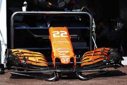 Jenson Button, McLaren MCL32 front wing detail