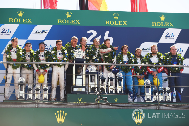 O #13 da Rebellion, com Nelsinho Piquet, Mathias Beche e David Heinemeier Hansson, ficou em segundo na LMP2 e terceiro na geral. Porém, o carro infringiu o regulamento e o trio foi desclassificado.