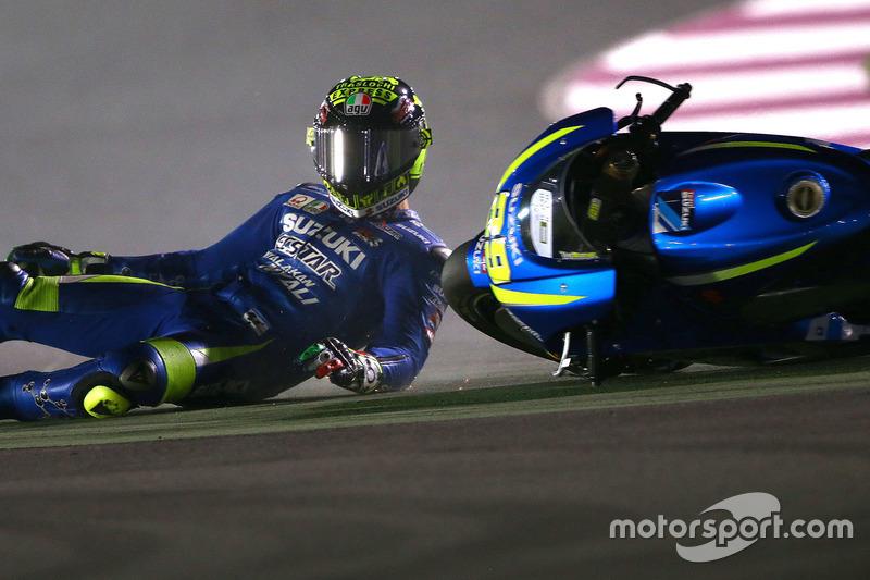 Andrea Iannone, 13 kali kecelakaan
