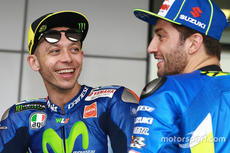 Валентино Россі, Yamaha Factory Racing; Андреа Янноне, Team Suzuki MotoGP