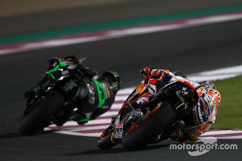 Johann Zarco, Monster Yamaha Tech 3; Marc Marquez, Repsol Honda Team