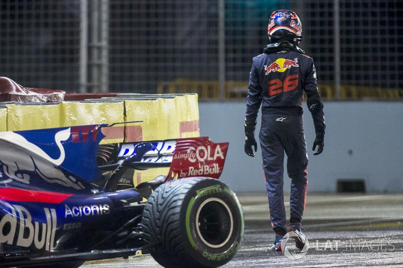 Даниил Квят после вылета на Гран При Сингапура