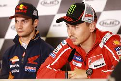 Dani Pedrosa, Repsol Honda Team; Jorge Lorenzo, Ducati Team
