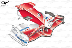 Toyota TF107 2007 front wing and nose