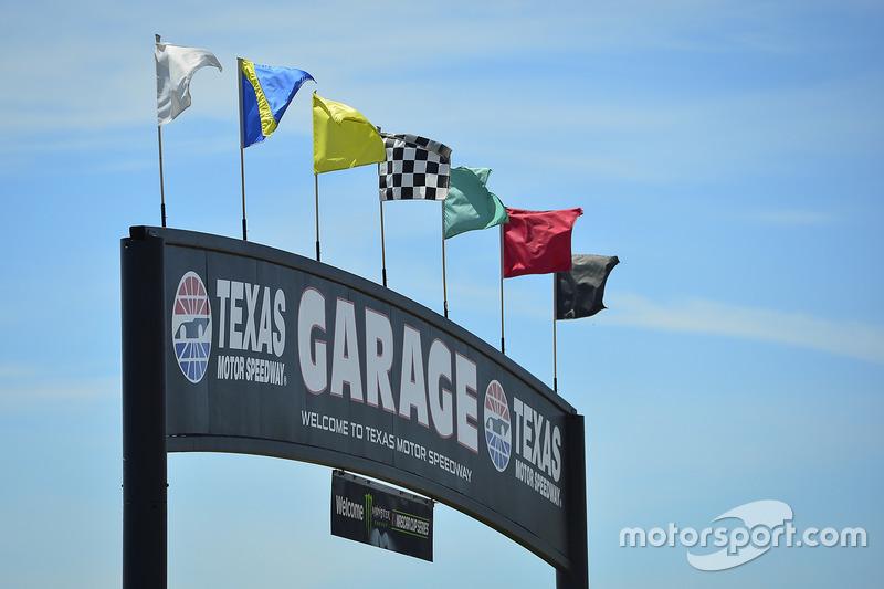 Texas Motor Speedway garage sign