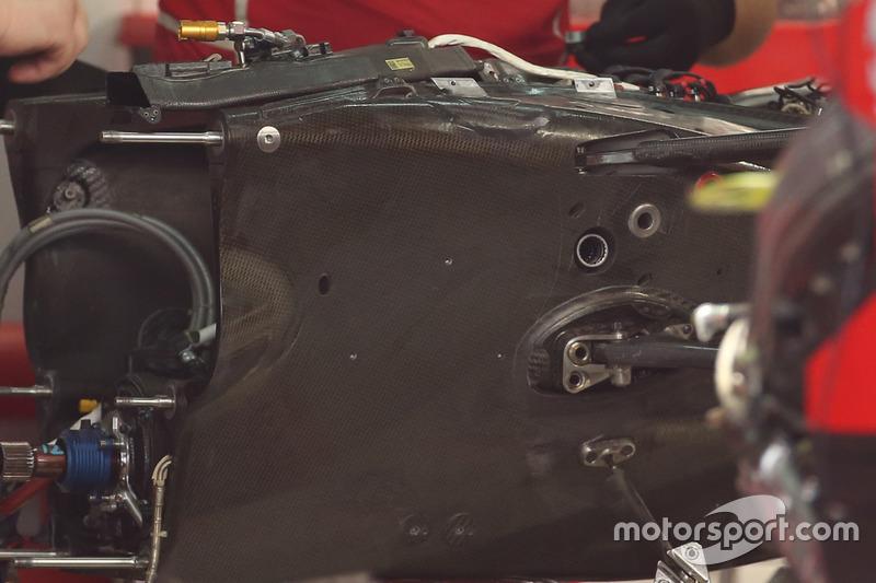 Ferrari SF70H, il cambio