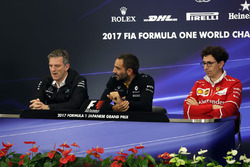 James Allison, Mercedes Technical Director, Cyril Abiteboul, Renault Sport F1 Managing Director and Mattia Binotto, Ferrari Race Engine Manager in the Press Conference