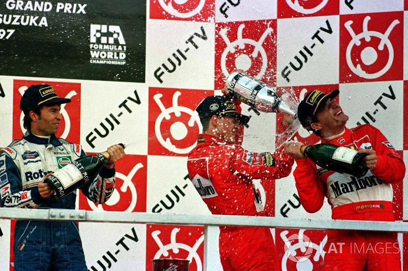 1997: 1. Michael Schumacher, 2. Heinz-Harald Frentzen, 3. Eddie Irvine