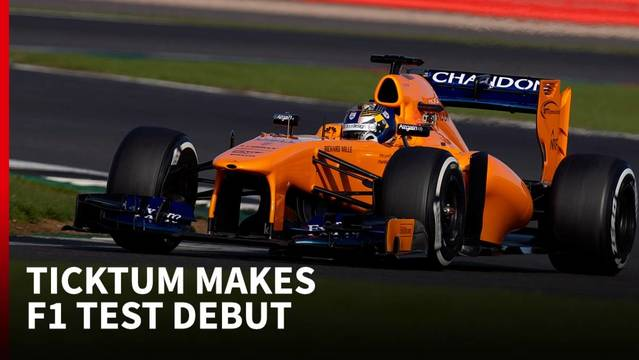 dan ticktum tests mclaren f1 car at silverstone - formula 1 videos