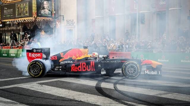 Tearing it up in Tinseltown with Red Bull Racing