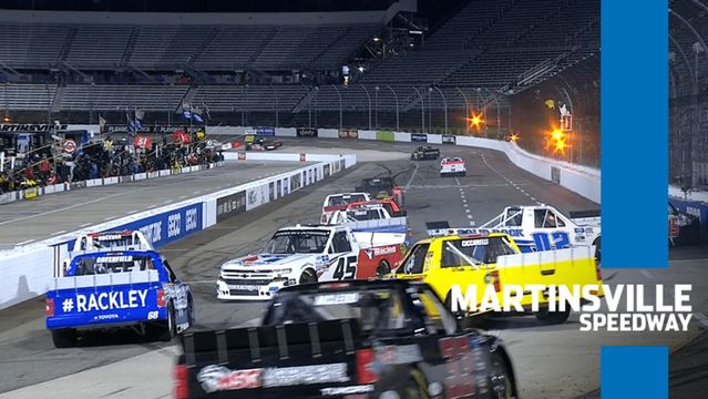 Trucks pile up at Martinsville, block in leader Sheldon Creed