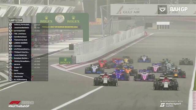 #NotTheBahGP: Race 1 start
