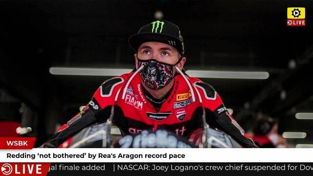 WSBK: Redding not bothered by Rea's pace