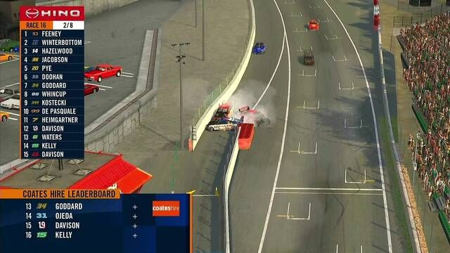 Lando Norris Supercars pit crash