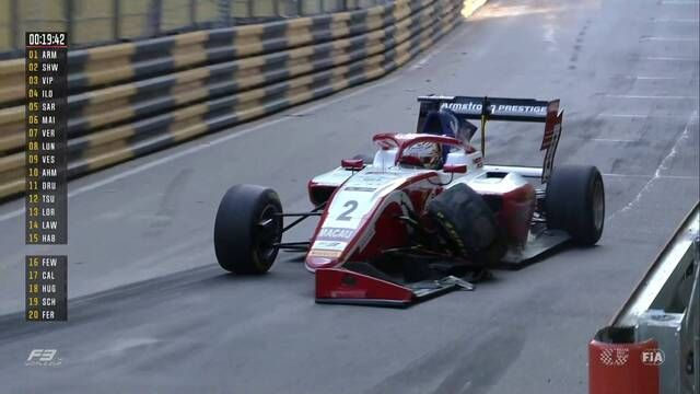 F3-Weltcup Macau: Armstrong mit Unfall