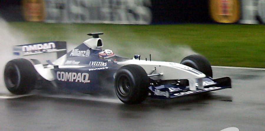 Grey damp day at Silverstone for BMW Williams FW24 launch