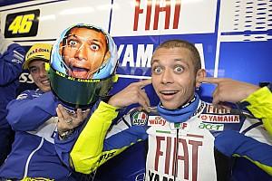 Deretan helm spesial Mugello milik Rossi