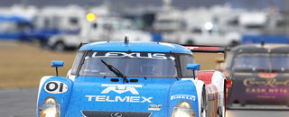 Grand-Am Ganassi leads in closing hours at Daytona