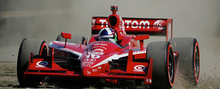IndyCar Franchitti takes rough ride for pole in Sonoma