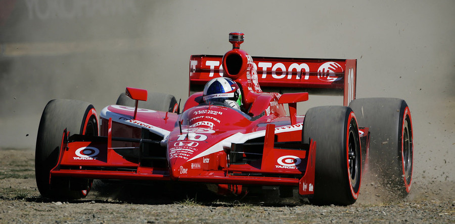 Franchitti takes rough ride for pole in Sonoma