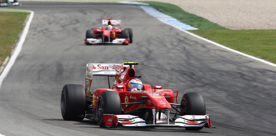 Massa gives Alonso German GP in Ferrari 1-2