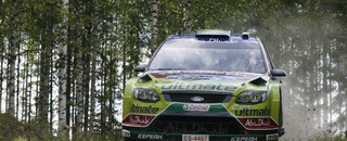 WRC Ford's Latvala leads Citroens in Rally Finland