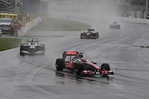 Formula 1 Button Hoping English Rain Keeps Falling