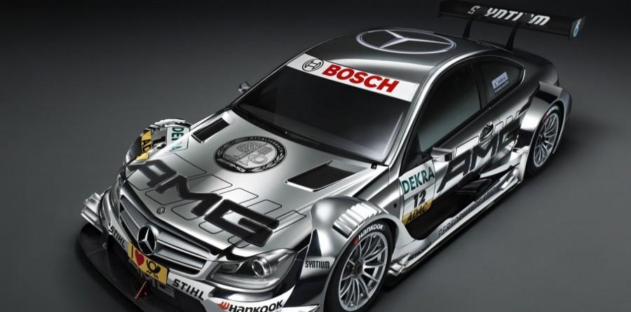 F1 stars unveil DTM AMG Mercedes C-Coupe