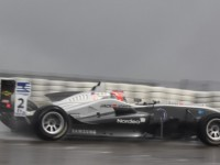 Magnussen walks on water at Donington Park
