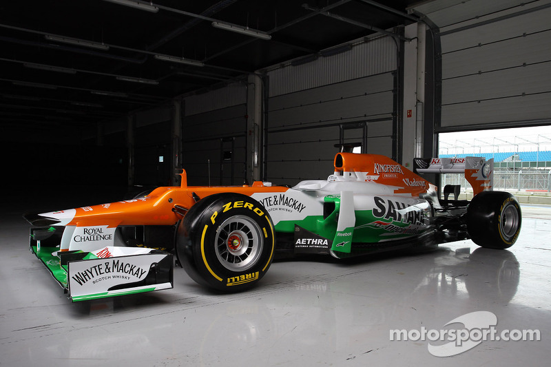 Force India's VJM05 unveiled at Silverstone