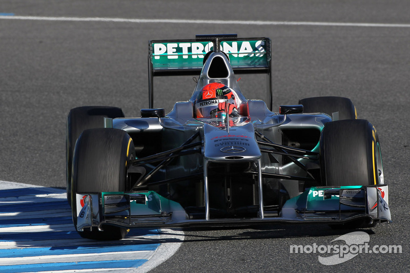 Schumacher tops speed chart on second test day at Jerez