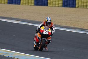 MotoGP Pedrosa grabs pole at damp Le Mans qualifying