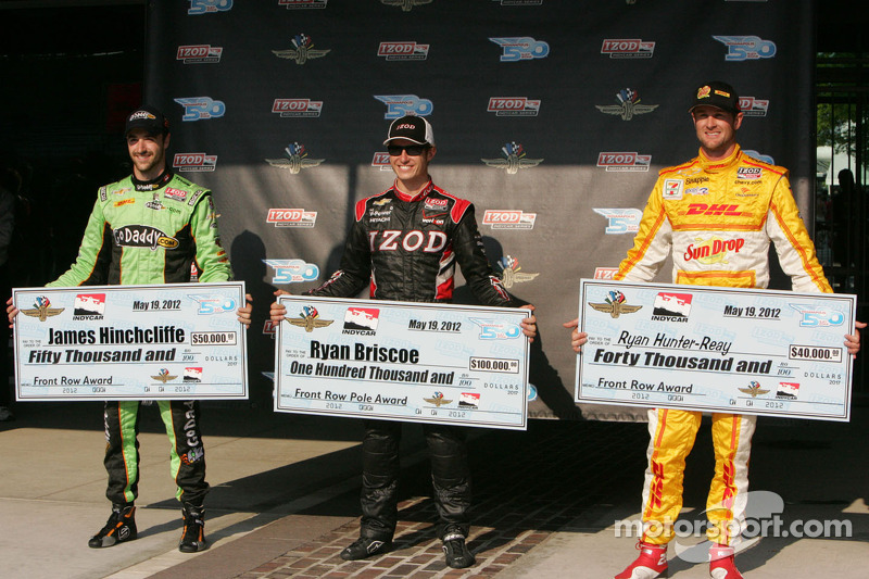 Hinchcliffe, Hunter-Reay Indy 500 Pole Day press conference