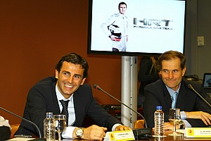 Formula 1 HRT opens new HQ Caja Mágica in Madrid